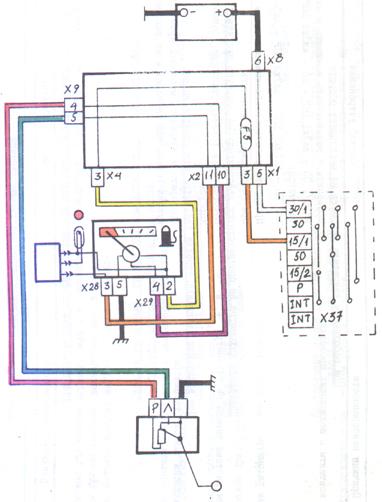 Датчик топлива ваз схема подключения